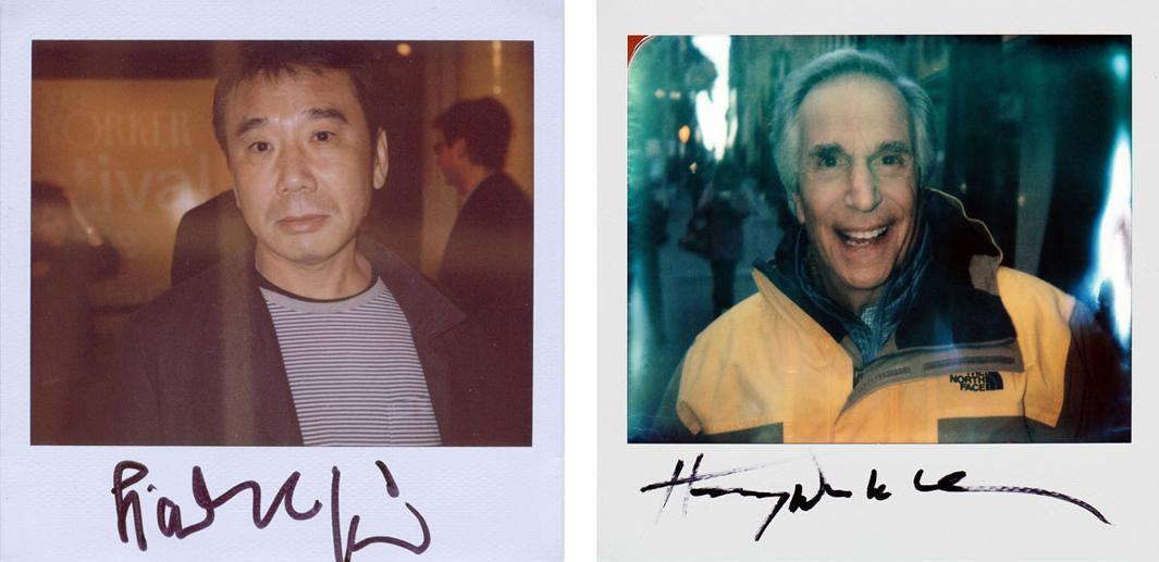 Left: Haruki Murakami Right: Henry Winkler