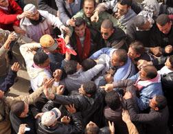 Protestors in Egypt. Click image to expand.