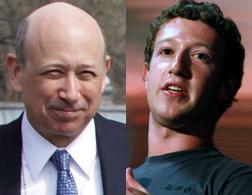 Lloyd Blankfein and Mark Zuckerberg.
