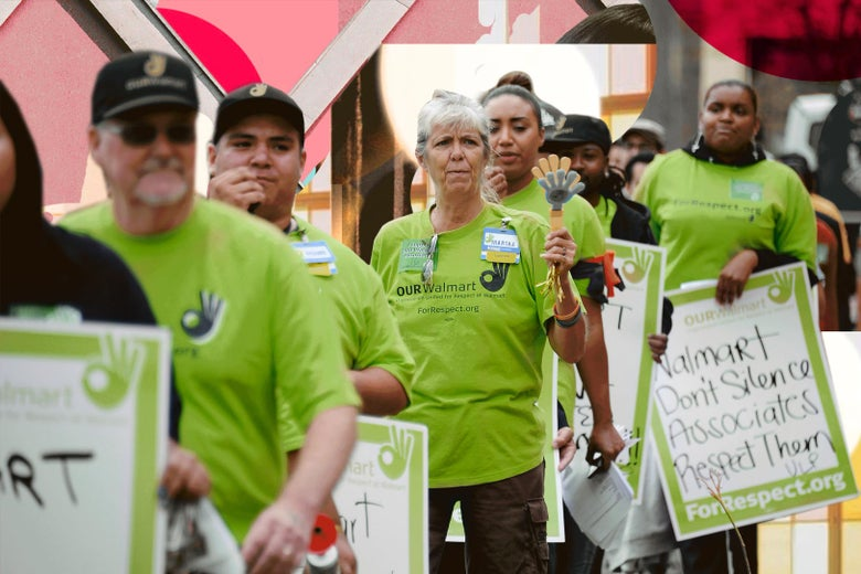 Protest against Walmart's retaliation against workers who speak out, California, 2013