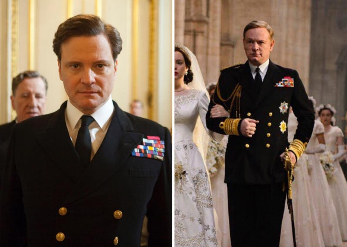 King George VI in The King's Speech and The Crown.