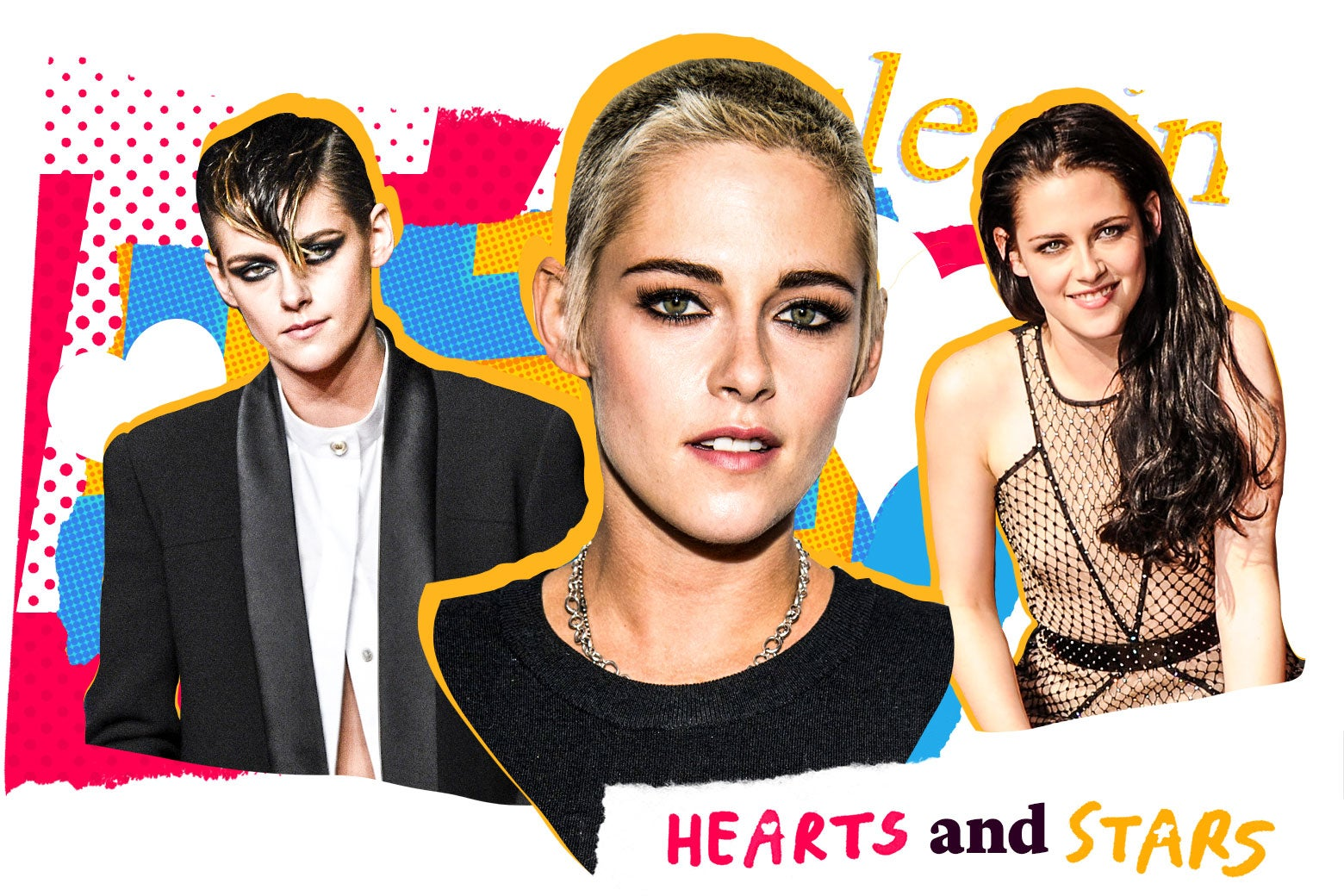 Photo illustration: Kristen Stewart in various forms.