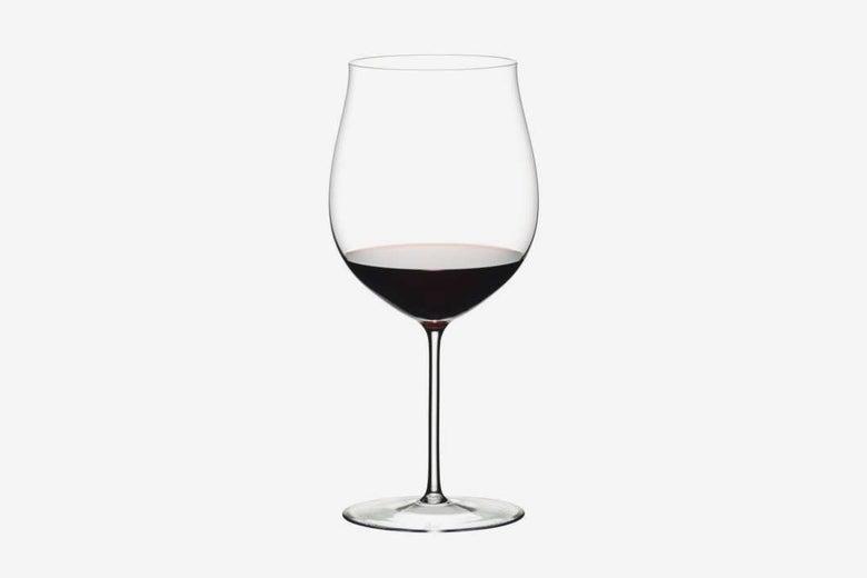 Riedel wine glass.