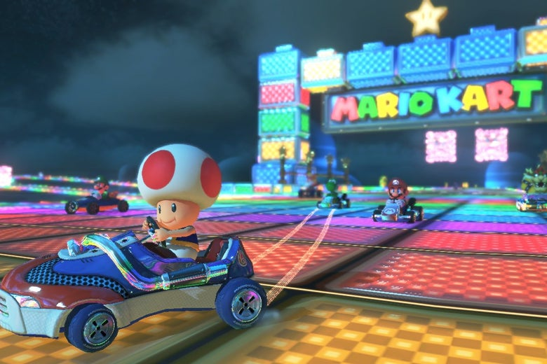 Toad from Mario Kart.