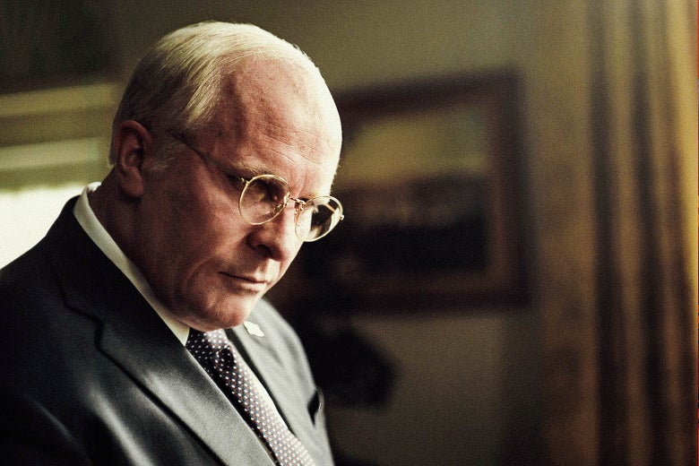 Christian Bale as Dick Cheney in Vice.
