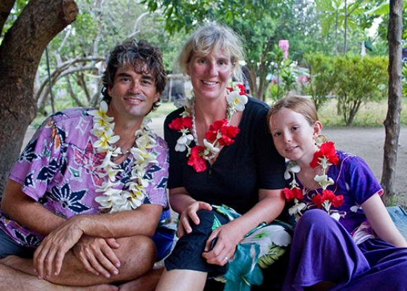 Diane's family in Fiji.