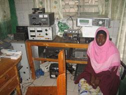 Somali journalists—like this one from Radio Galkaio—are a rare and endangered species and should be protected, not vilified. Click image to expand.