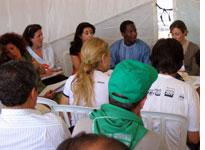 Delegates discuss the disastrous effects of free trade on cotton production in Spain and Mali