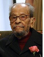 Egyptian novelist Naguib Mahfouz. Click image to expand.