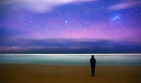 Russell Brown photo of stars over a beach