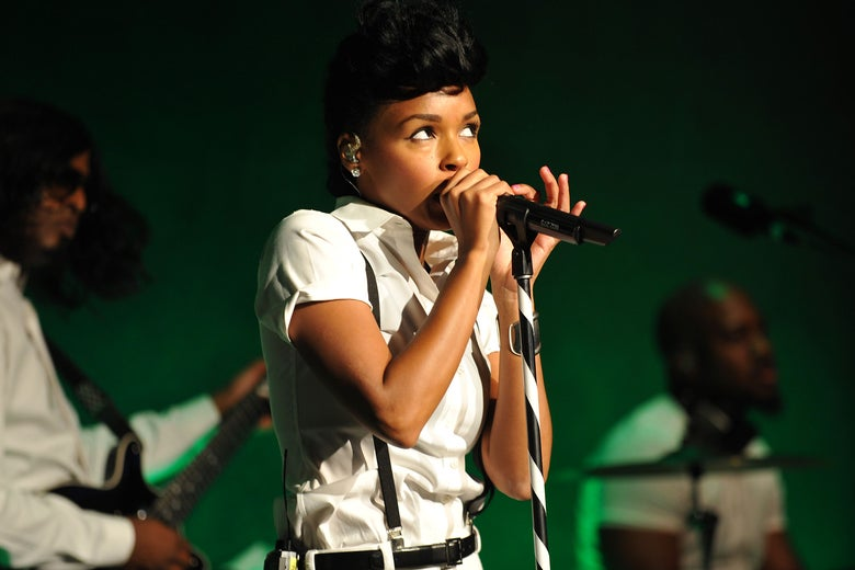 Janelle Monae performs at American Express UNSTAGED with Rebecca Minkoff And Janelle Monae at Lincoln Center on September 6, 2013 in New York City.