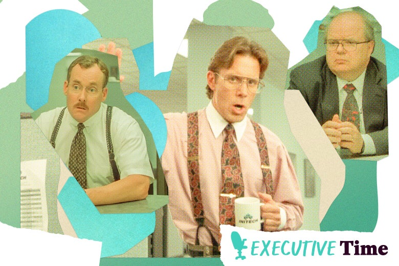 John C. McGinley, Gary Cole, and Paul Willson in Office Space.