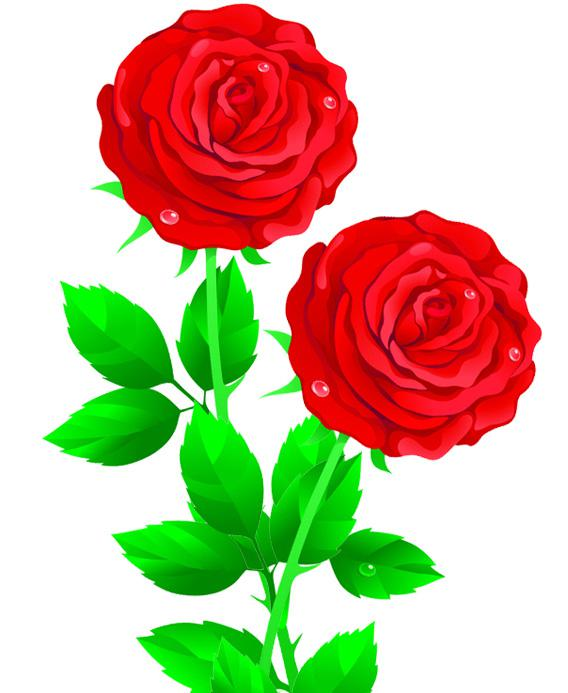 A digital rose