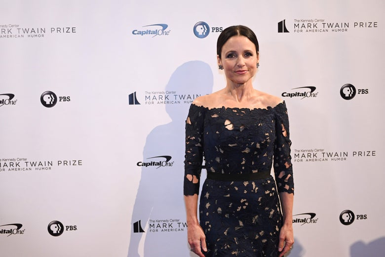 Julia Louis-Dreyfus on the red carpet for the 21st Annual Mark Twain Prize for American Humor.