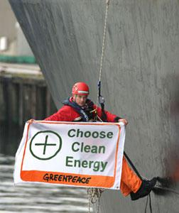 Green Peace activist. Click image to expand.