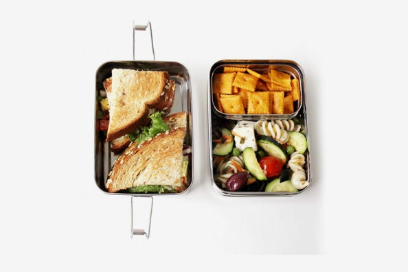 ECOlunchbox Three-in-One Stainless Food Canister & Lunch Box.
