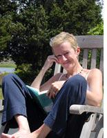 Marjorie on Cape Cod in June 2004, the summer before she died. Click image to expand.