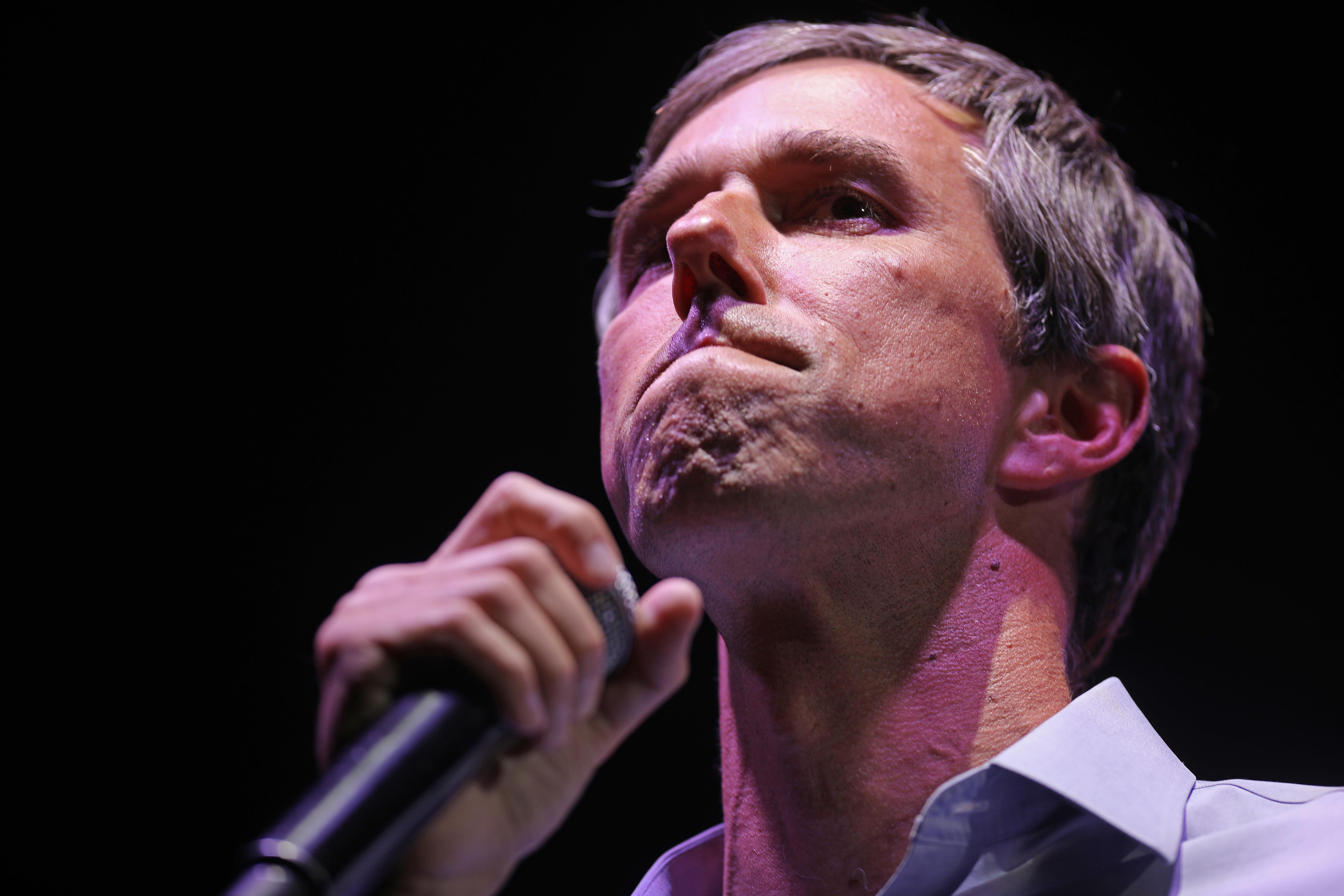 U.S. Senate candidate Rep. Beto O'Rourke (D-TX) concedes the race while addressing a 'thank you' party on Election Day at Southwest University Park November 06, 2018 in El Paso, Texas. O'Rourke lost to incumbent Sen. Ted Cruz (R-TX).