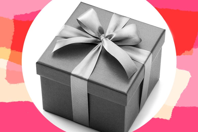 An expensive-looking gift box.