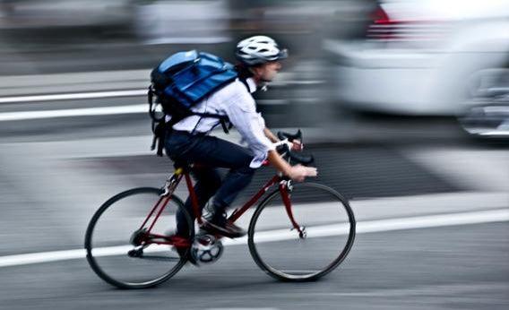 City cyclist.