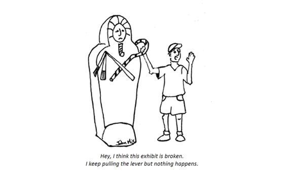 Museum cartoon.