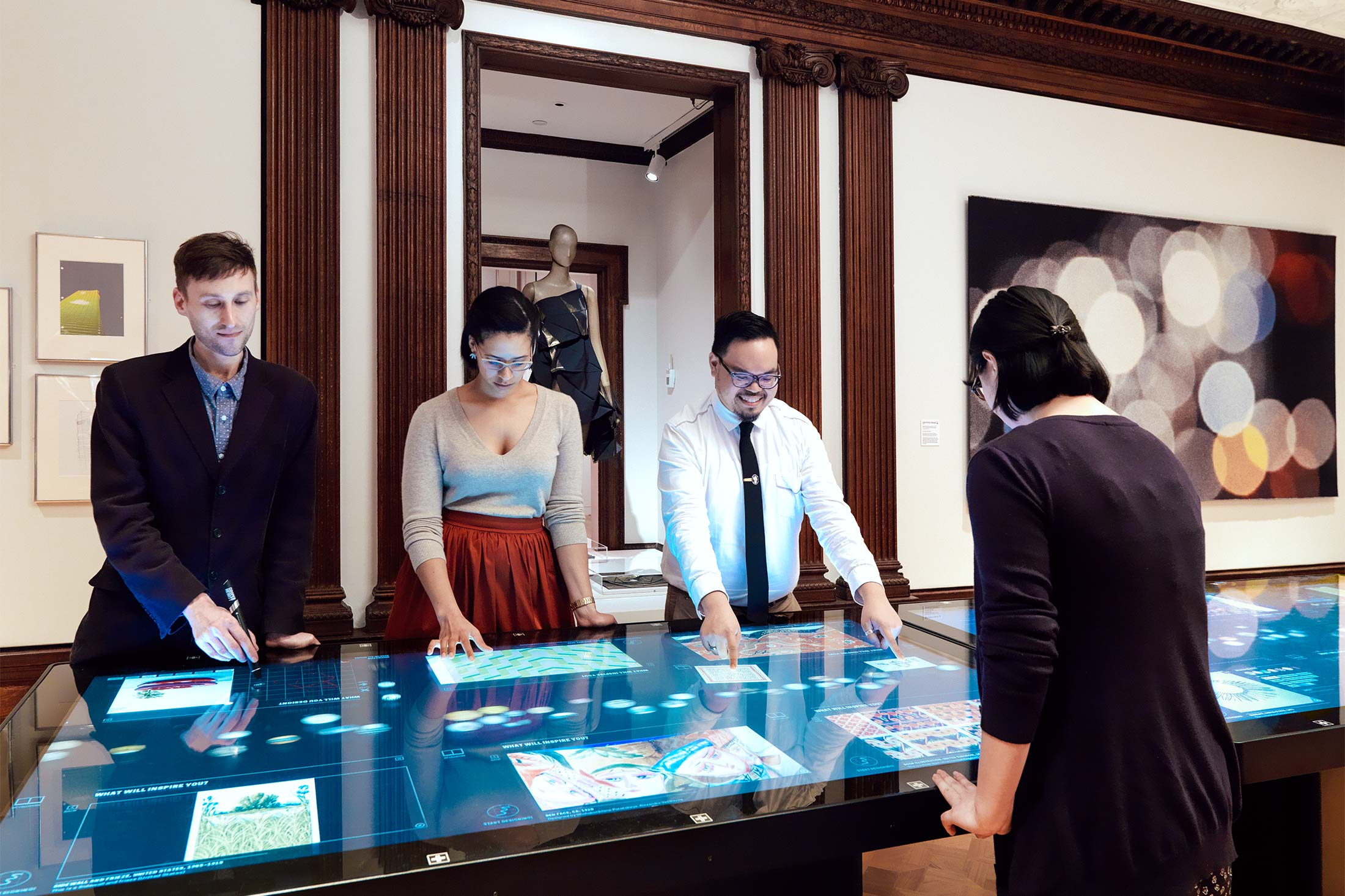 Cooper Hewitt's interactive tables let visitors mingle with one another and with the exhibits.