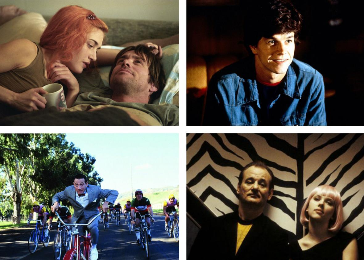 Eternal Sunshine, Boogie Nights, Pee-wee's Big Adventure, and Lost in Translation