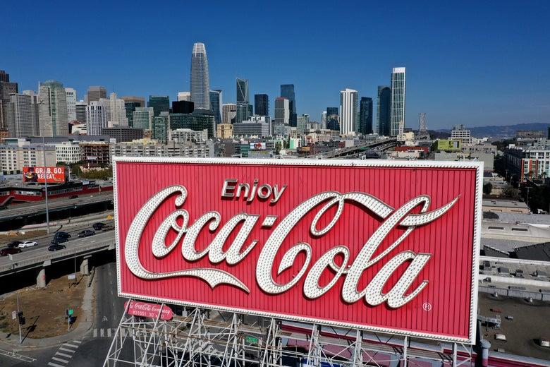 A Coca-Cola billboard in San Francisco.