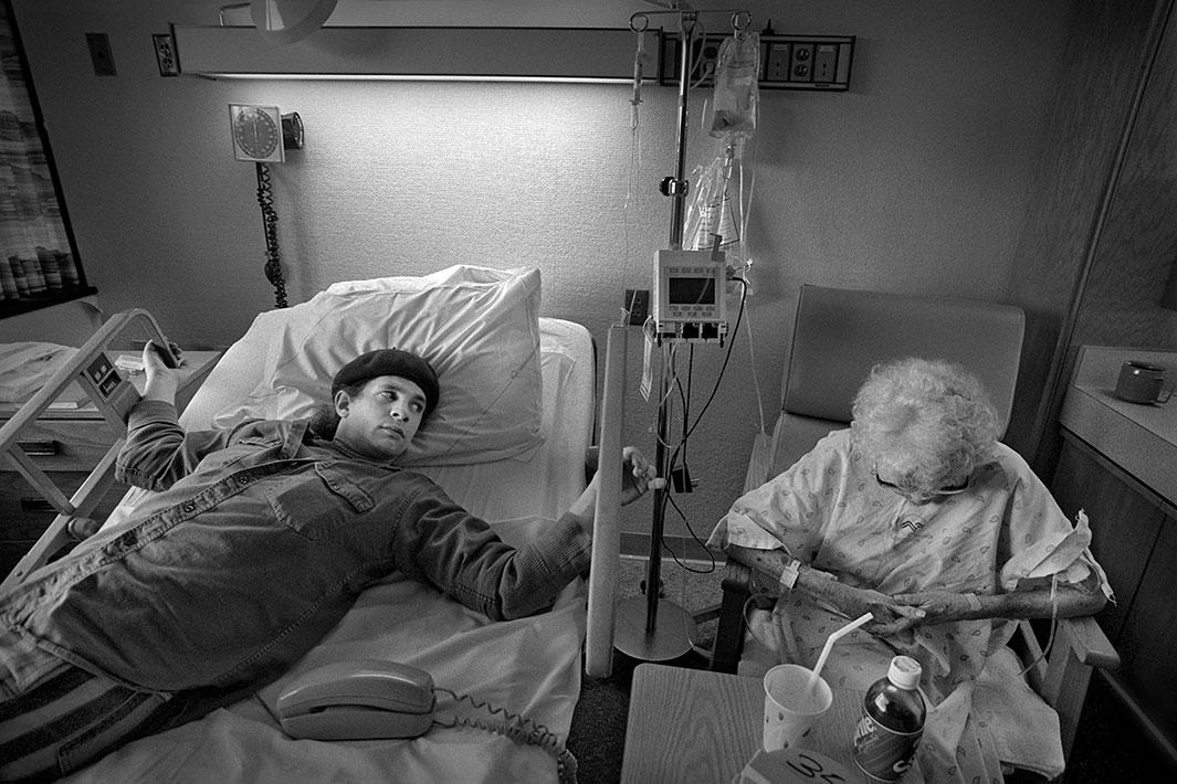 Hospital Room, Asheville, NC, New Year's Eve 1990, with Andy.