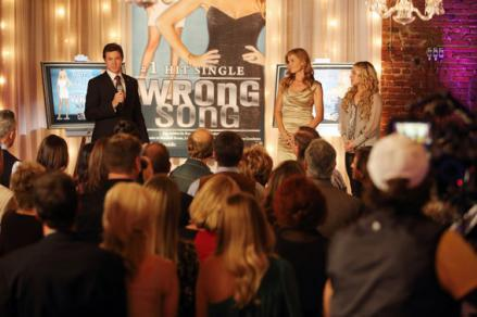 Eric Close as Teddy Conrad, Connie Britton as Rayna Jaymes, and Hayden Panettiere as Juliette Barnes.