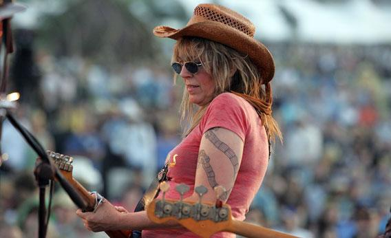 Musician Lucinda Williams performs onstage during the Stagecoach Music Festival held at the Empire Polo Field on May 5, 2007 in Indio, California.