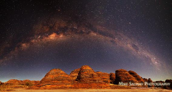Mike Salway photo of the Milky way over the Bungle Bungles