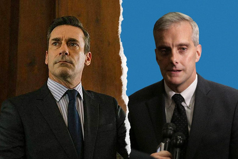 Jon Hamm and Denis McDonough.