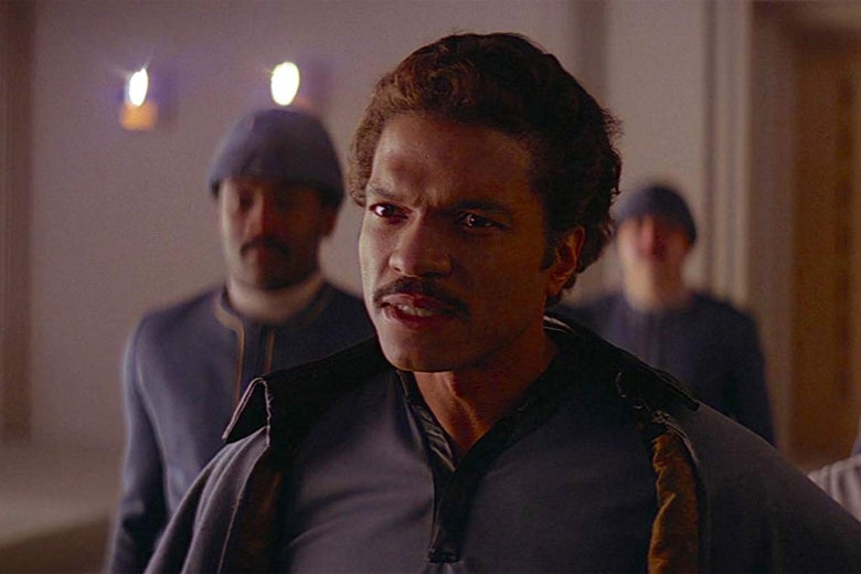 Billy Dee Williams as Lando Calrissian in The Empire Strikes Back.
