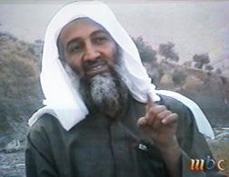 Saudi-owned television network MBC shows alleged terror mastermind Osama bin Laden. Click image to expand.