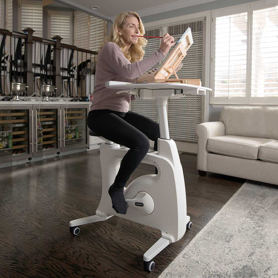 A bicycle desk!