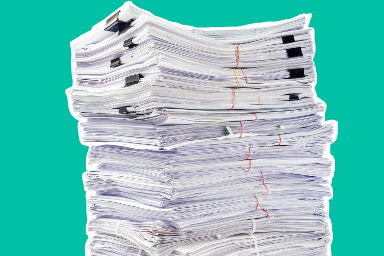 Stack of criminal charges.