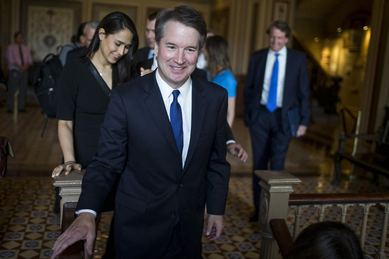 Brett Kavanaugh in the Capitol.