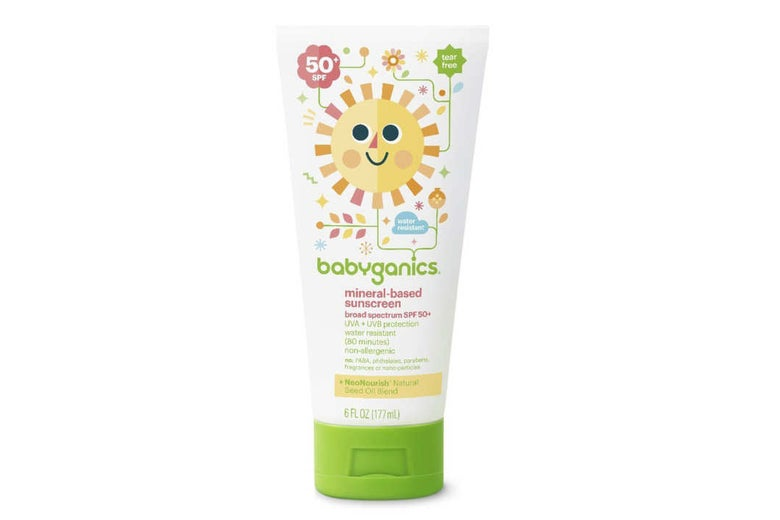 Babyganics Mineral-Based Sunscreen Lotion SPF 50 (Pack of 2).