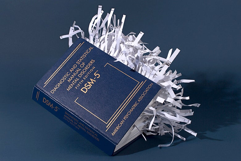 A book with shredded pages.