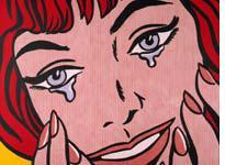 Verdict: Happy! (Credit: Roy Lichtenstein, Happy Tears, courtesy Christie's)