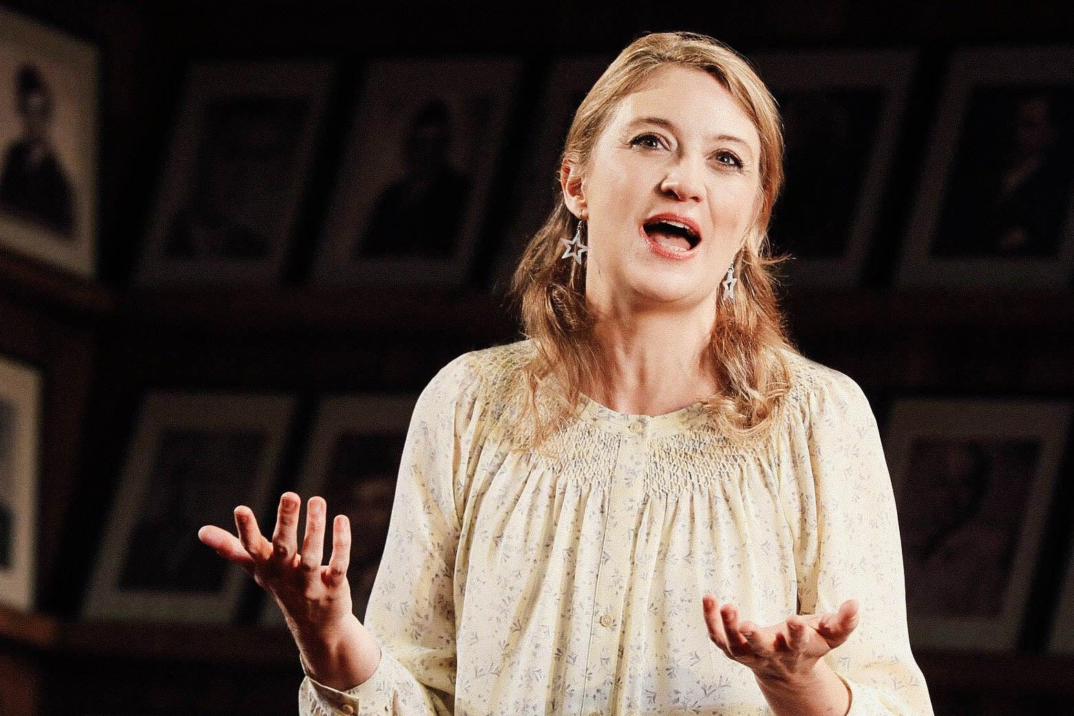 Heidi Schreck onstage.