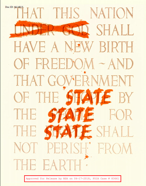 NSA poster Gettysburg Address