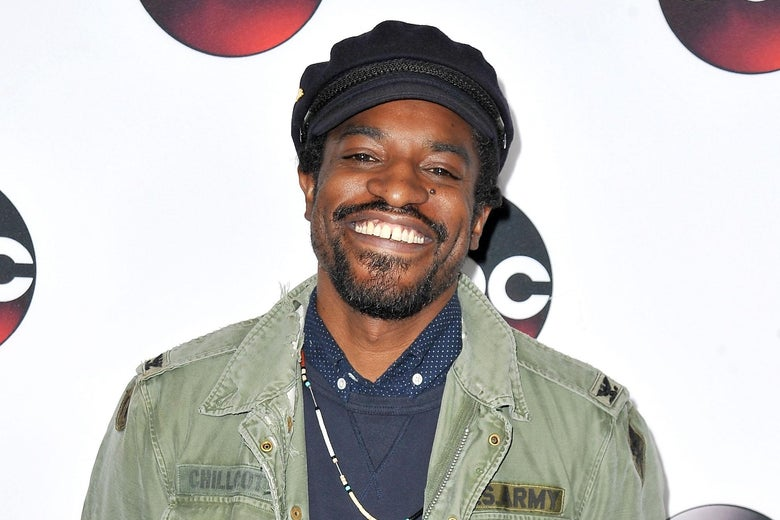 André 3000 on the red carpet at the TCA Tour in 2016.
