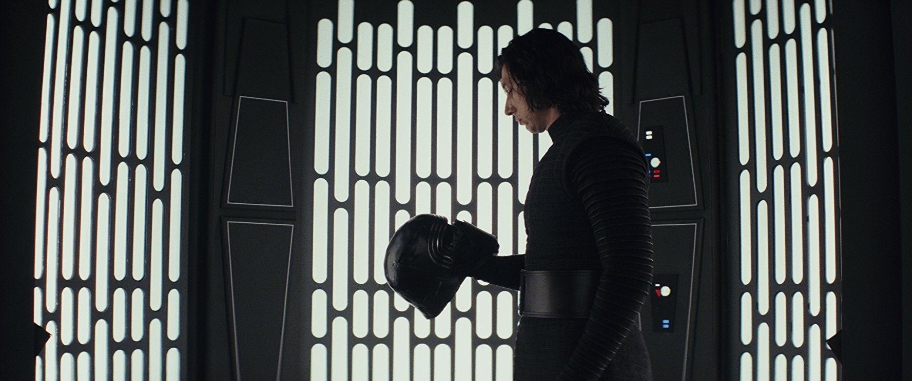 Adam Driver as Kylo Ren in The Last Jedi