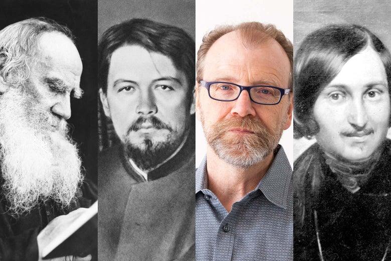 Leo Tolstoy, Anton Chekhov, George Saunders, and Nikolai Gogol.