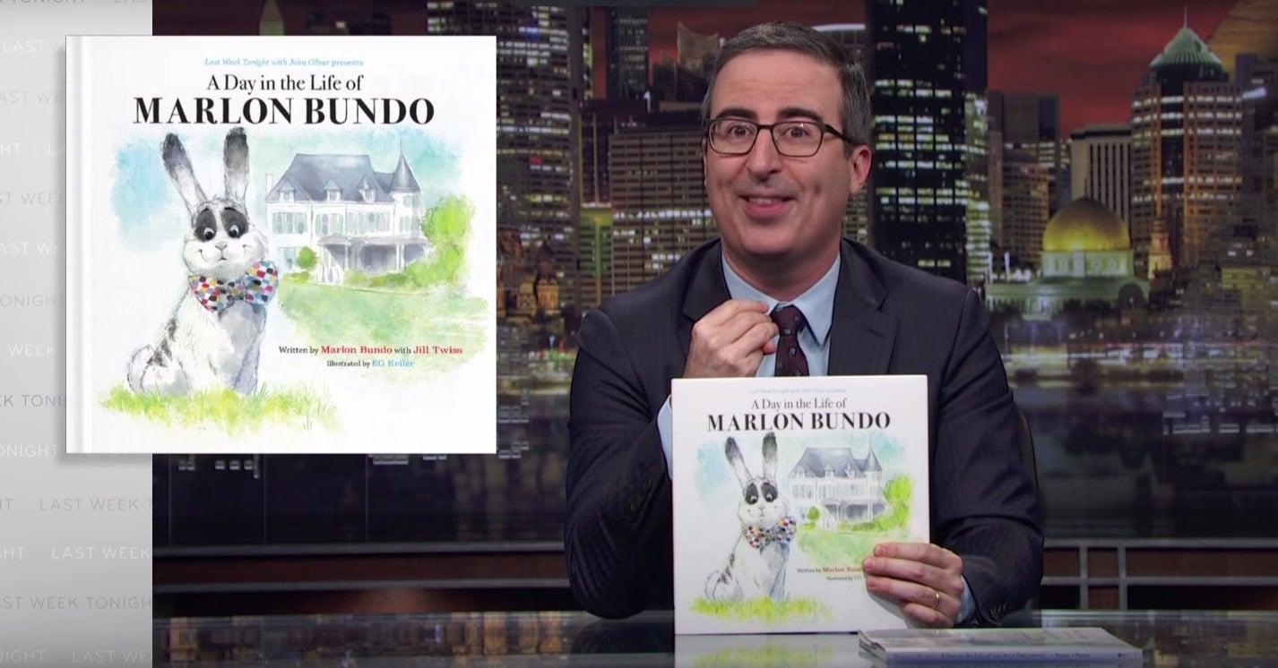 John Oliver unveils A Day in the Life of Marlon Bundo on Last Week Tonight.