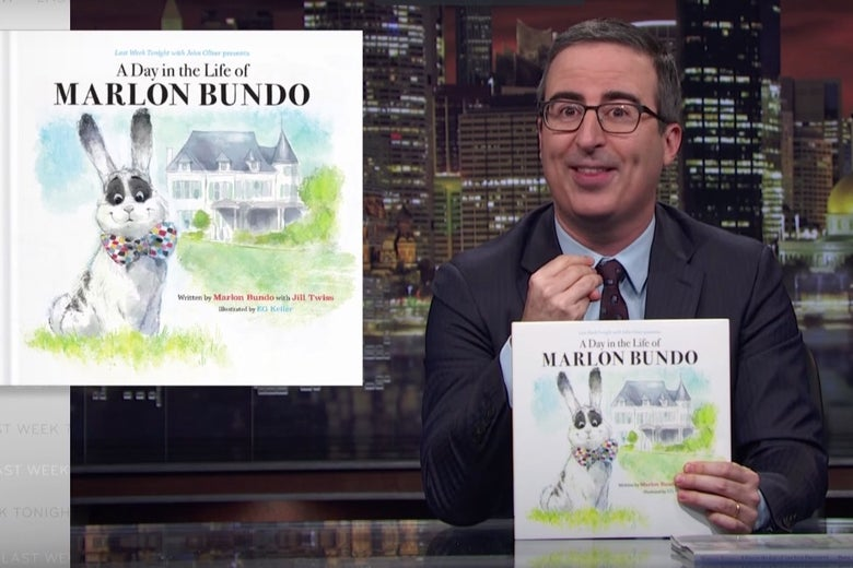 John Oliver unveils A Day in the Life of Marlon Bundo on Last Week Tonight.