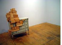 One of Courtney Smith's sculptures