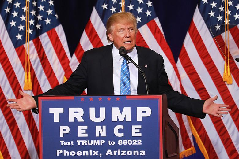 Donald Trump unveils his 10-point plan to crack down on illegal immigration during a campaign event on Aug. 31 in Phoenix.